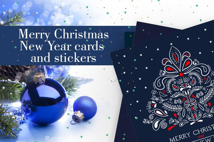 Postcards Merry Christmas and Happy New Year example image 1