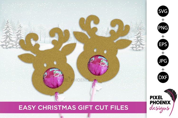 Reindeer Lollipop Holders SVG, Reindeer Lollipop Cutout