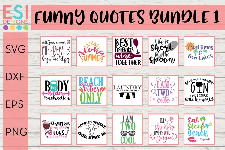 Funny SVG Quote Bundle for Cricut and Silhouette
