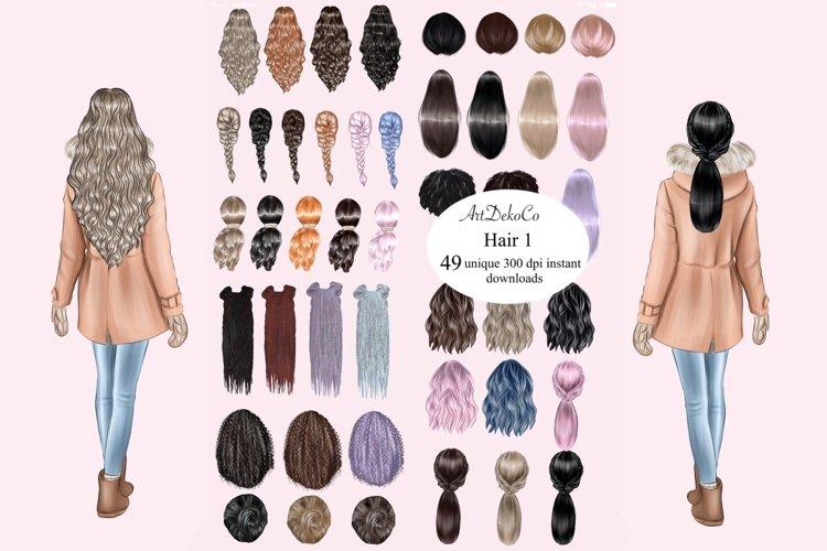 Hair clip art DIGITAL DOWNLOAD Hair set ClipArt Custom hairs