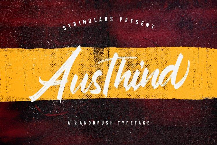 Austhind - Stylish Brush Font example image 1