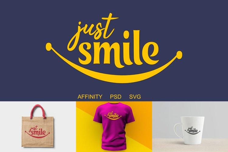 Just Smile Cut file