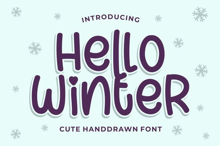 Hello Winter - Cute Handdrawn example image 1