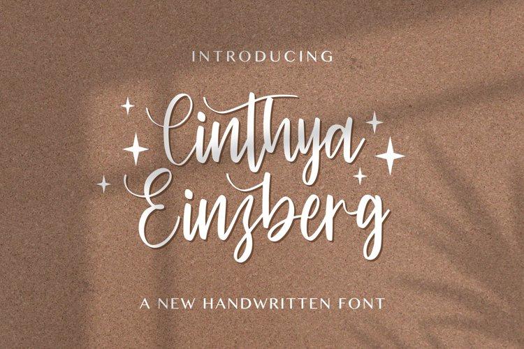 Cinthya Einzberg - Handwritten Font example image 1