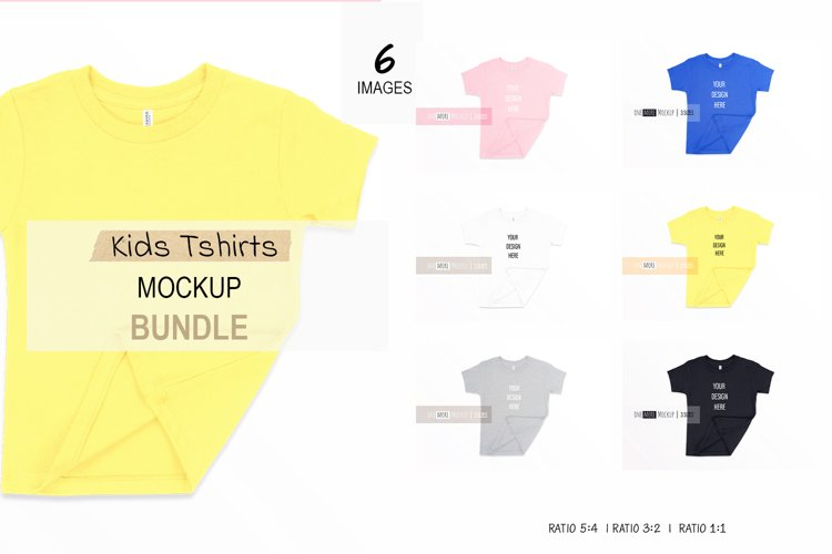 Kids Tshirt Mockup Bundle I Bella Canvas 3001T example image 1