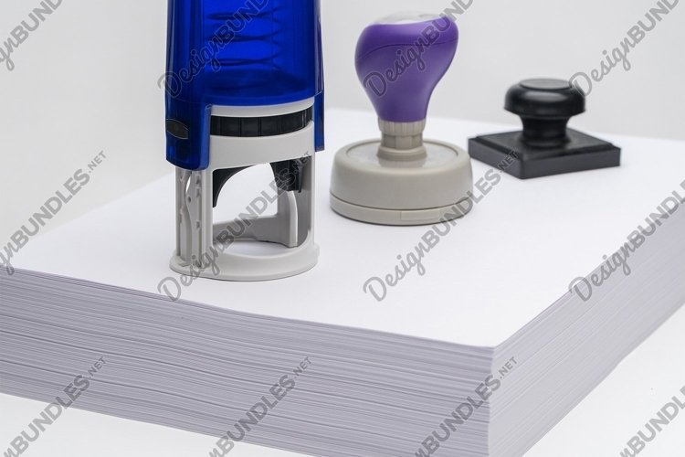 Rubber stamp on a white background example image 1