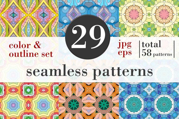 Zentangle seamless patterns