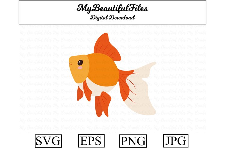 Goldfish SVG - Cute animal SVG, EPS, PNG and JPG