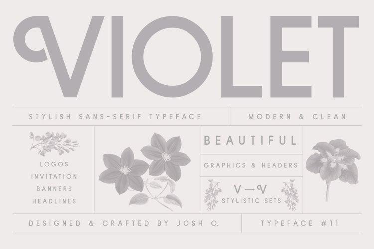 Violet   A Stylish Sans Serif example image 1