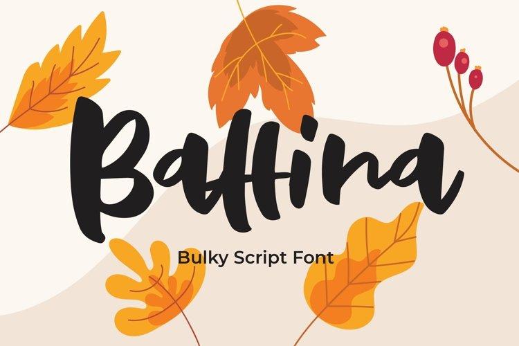 Web Font Baffina - Script Fancy Fonts example image 1