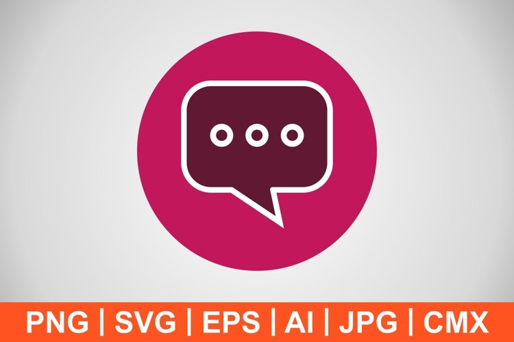 Vector Chat Icon example image 1