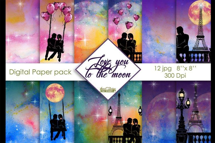 Love digital paper pack example image 1