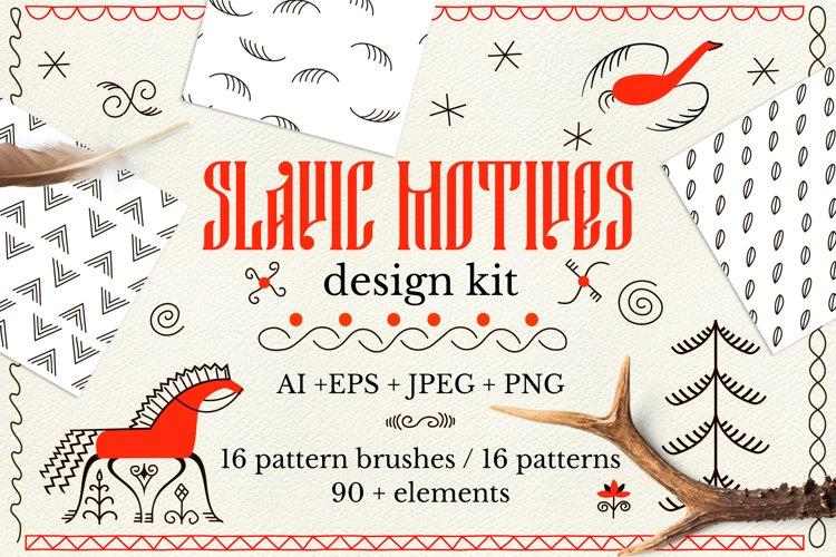 Slavic motives. Design kit. example image 1