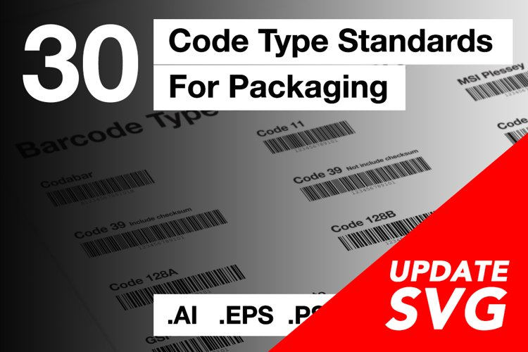 30 Standards type of barcode assets
