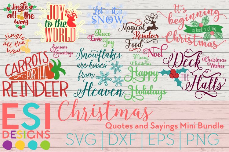 Christmas SVG | Quotes and Sayings Bundle | SVG DXF EPS PNG example image 1