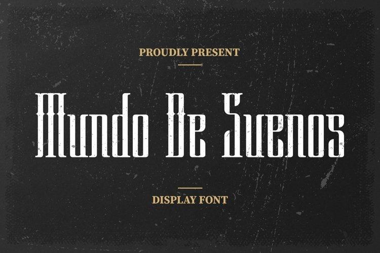 Web Font Mundo De Suenos Font example image 1