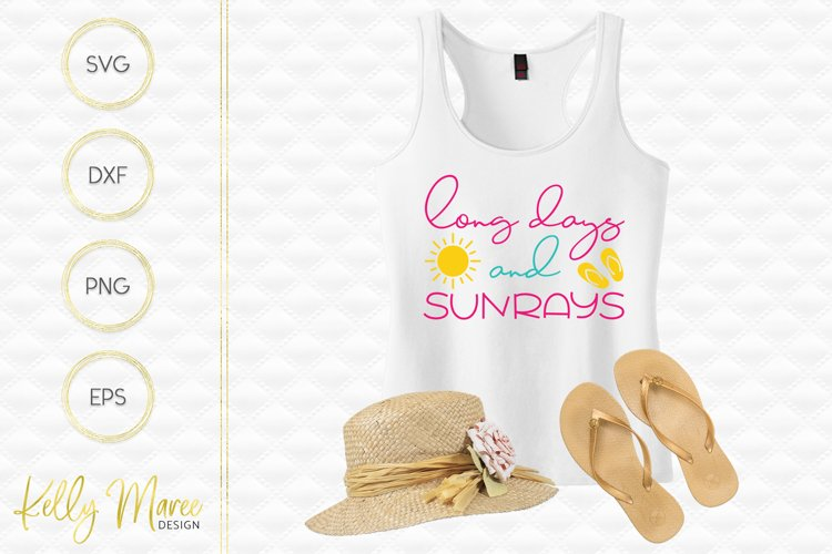 Long Days and Sunrays SVG File example image 1