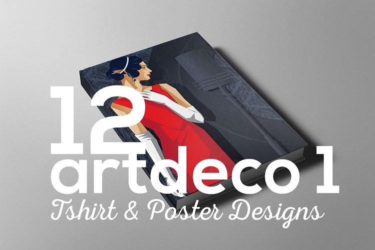 ArtDeco Poster T-shirt Set 1 example image 1