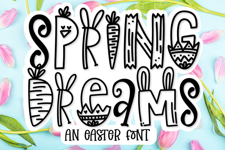 Spring Dreams - An Easter Word Art Font! example image 1