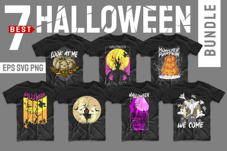 Halloween Bundle SVG Horror T-shirt Designs Bundles PNG