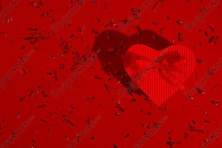 Heart shape gift box Valentine's day background example image 1