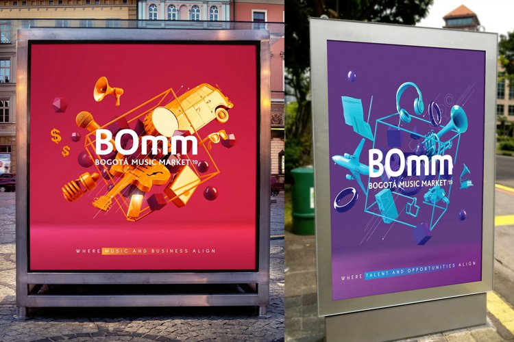 Modern Poster Sign Mockups Templates example image 1