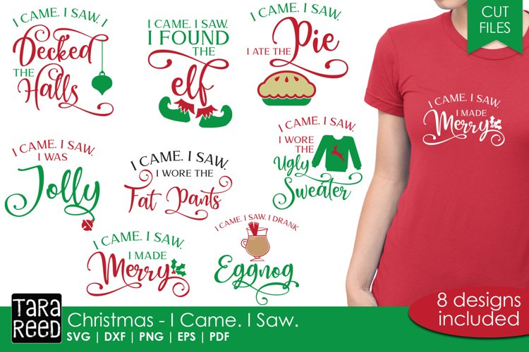 Christmas - I came. I saw. - SVG and Cut Files for Crafters