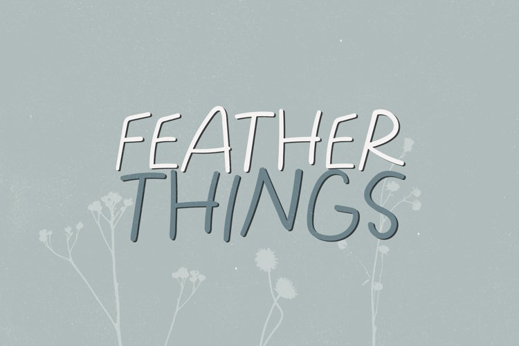 Feather Things - A Lightly Handwritten Font example image 1