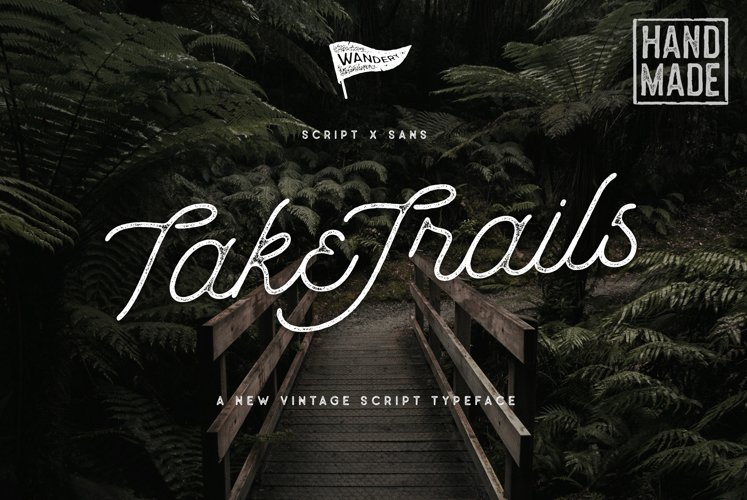 Take Trails Script Sans Typeface example image 1