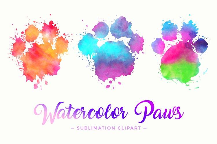 Splash Paws Watercolor Sublimation Designs