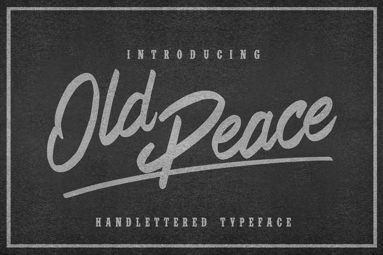 Web Font Old Peace example image 1
