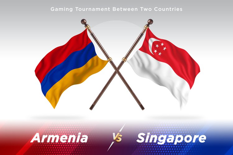 Armenia versus Singapore Two Flags example image 1