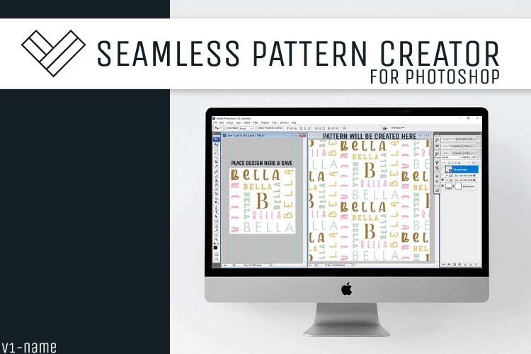 Seamless Pattern Creator Template   PSD File   V1NameCollage