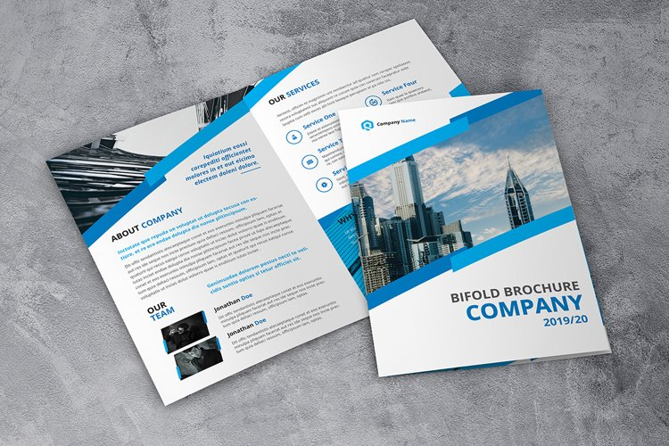 Company Bifold Blue example image 1
