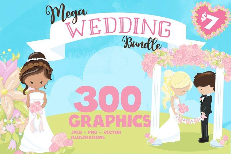 Wedding illustrations bundle - Wedding Sublimation designs example image 1