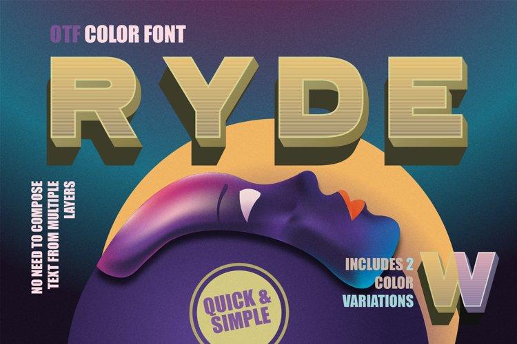Ryde - sans serif color font