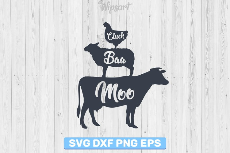 Farmhouse svg, farm svg, cow svg, sheep svg, chicken svg, example image 1