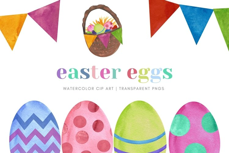Easter Egg Watercolor Clip Art Sublimation Jelly Beans