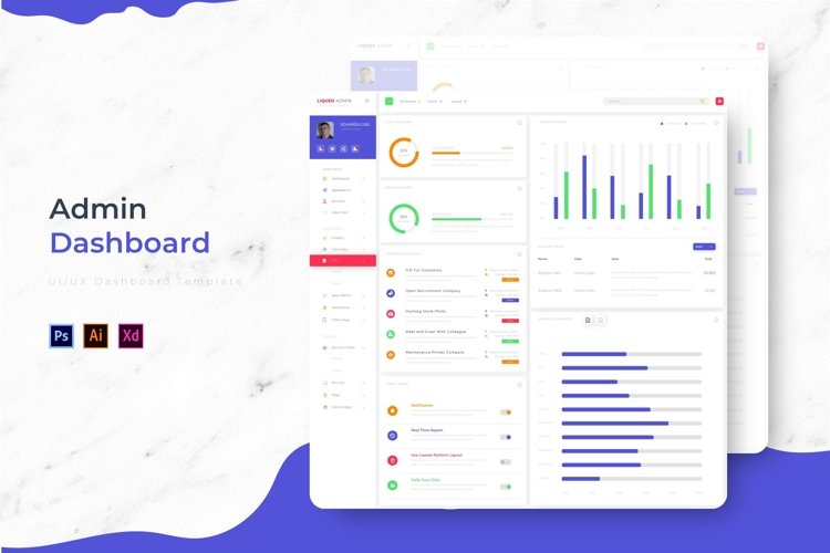 Liqued Dashboard   Admin Template example image 1