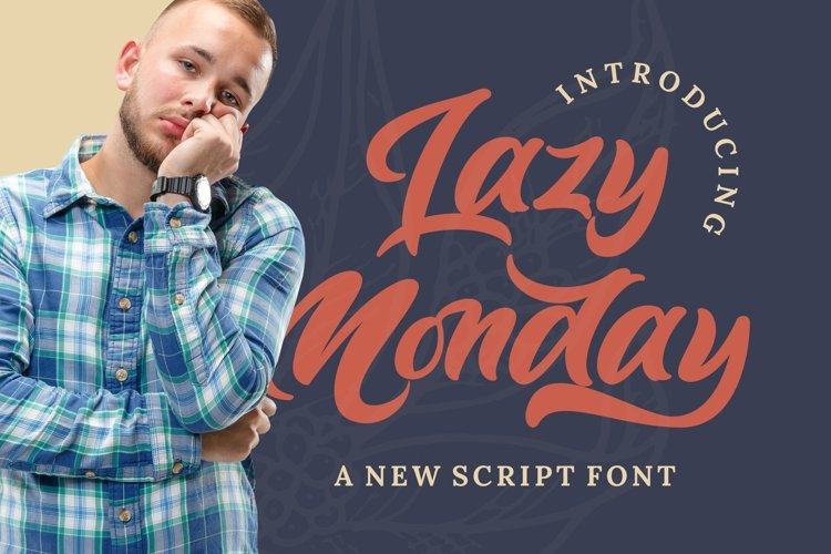 Lazy Monday - Bold Script Font example image 1