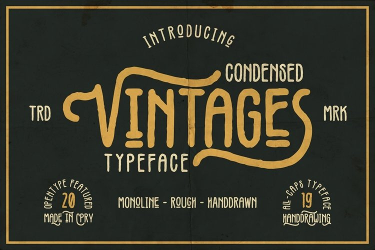 Vintages Typeface example image 1