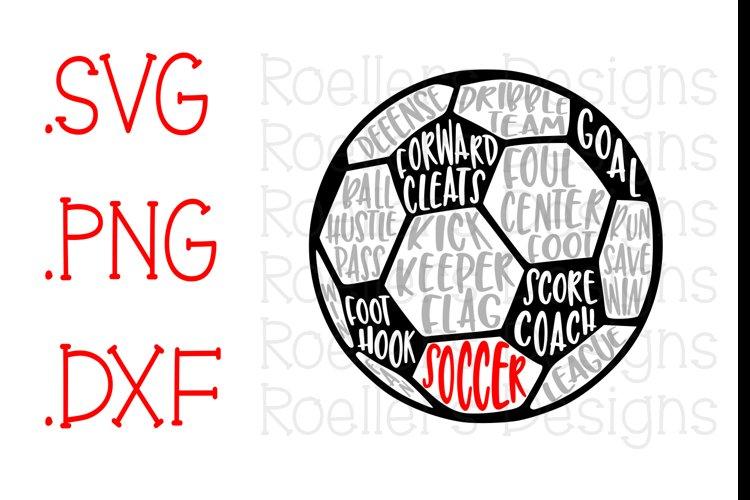 Soccer SVG, Soccer Ball Svg, SVG, Dxf, Png, Cricut, Silhouette, Soccer Words Svg, Soccer Word Art, soccerball svg, Sport Svg, Spring Svg example image 1