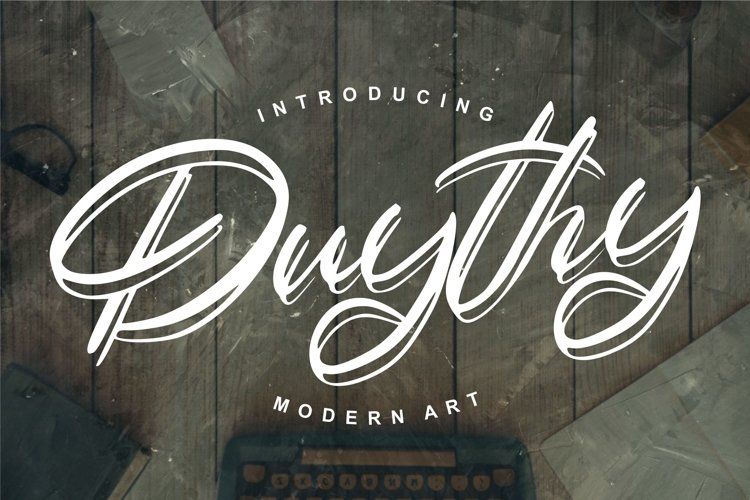 Duythy | Modern Art Font example image 1