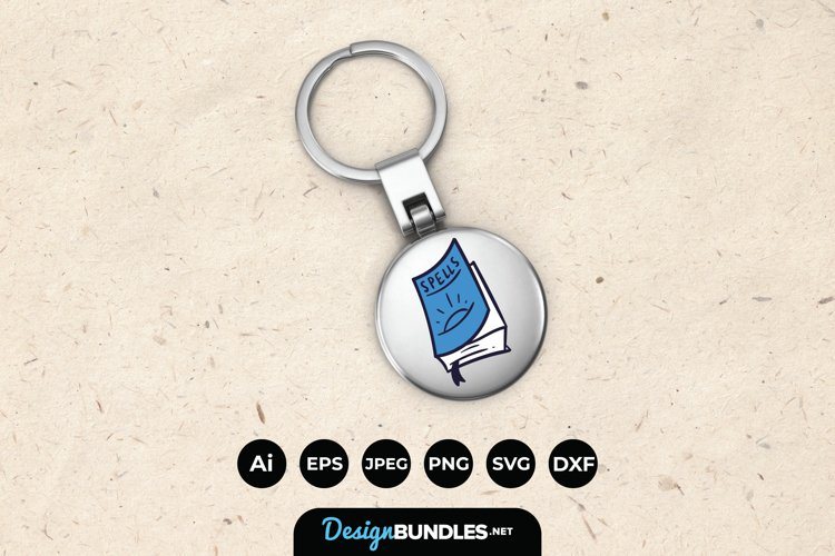 Book of Spells Keychain example image 1