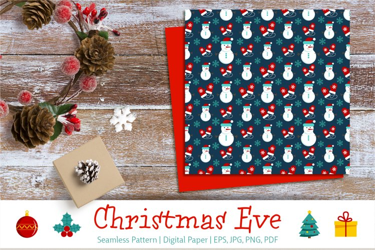 Christmas Eve | Seamless Pattern | Digital Paper example image 1