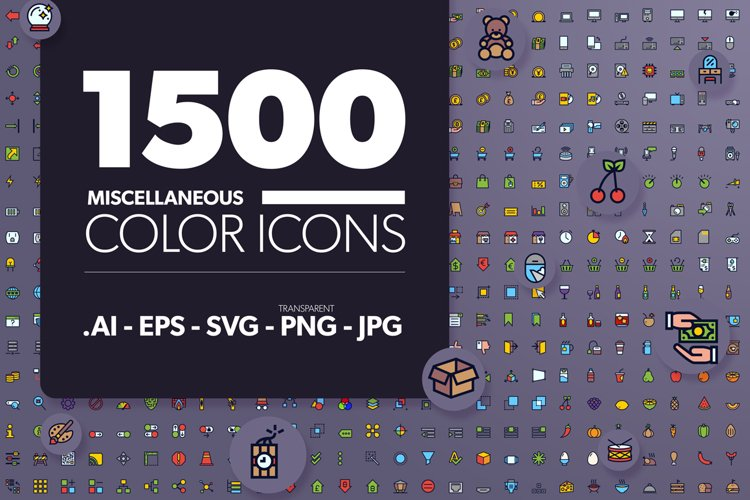 1500 Miscellaneous Color Icons
