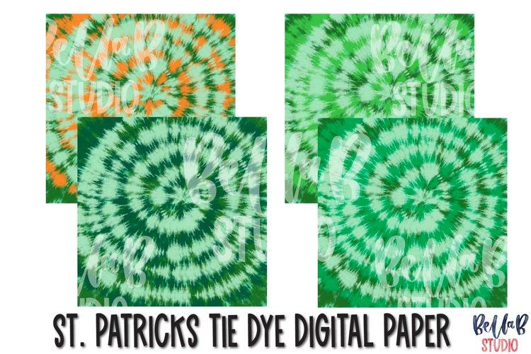 St Patricks Tie Dye Digital Papers, Digital Paper Pack