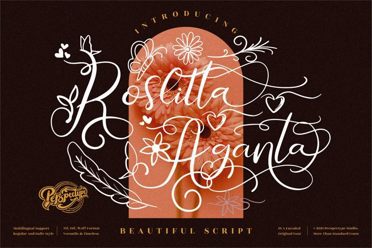 Roslitta Aganta - Beautiful Script Font example image 1
