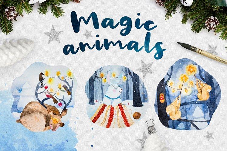 Magic animals.Merry Christmas example image 1