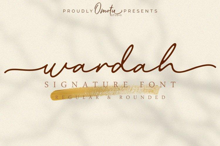 Wardah | Signature Font